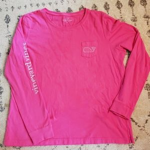 Vineyard Vines Tops - Pink Vineyard Vines long sleeved tee XL 🥰
